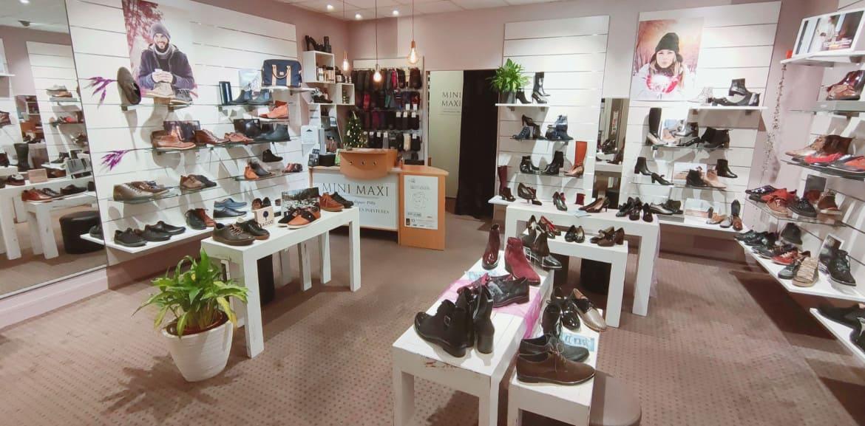 boutique chaussures Nantes intérieur